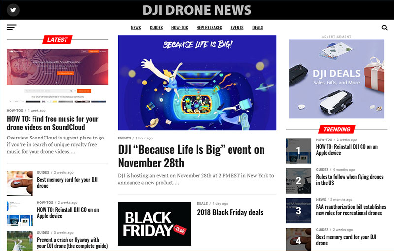 New site for DJI drone news - Drone Deals - DJI Drone Help Forum